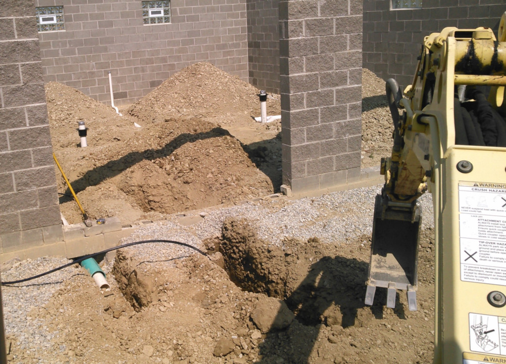underground rough in for toilet lines